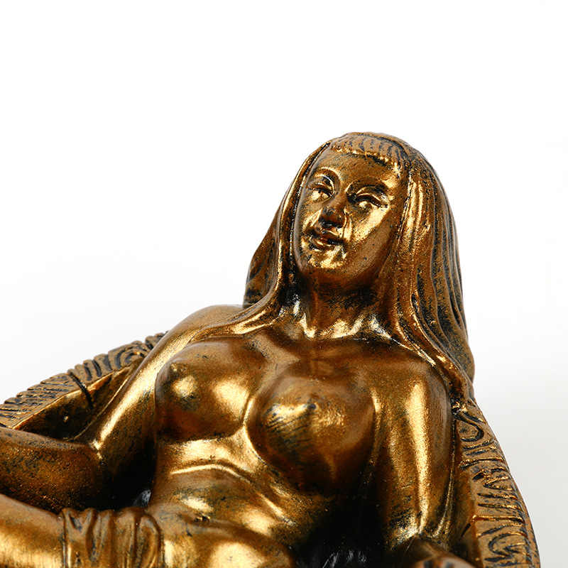 BUF Resin Craft Nude รูปปั้นตกแต่งความงามเปลือยรูปปั้น Ashtray สร้างสรรค์บ้านตกแต่งความงาม Ashtray