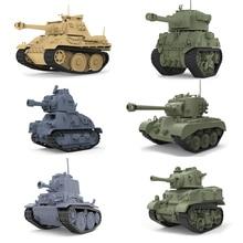 New 6 Styles Meng Q Ver German Pzkpfw Panzer 38T UK Sherman-Firefly FR Somua S35 US M5 Stuart M26 Assembly Model Building Kits