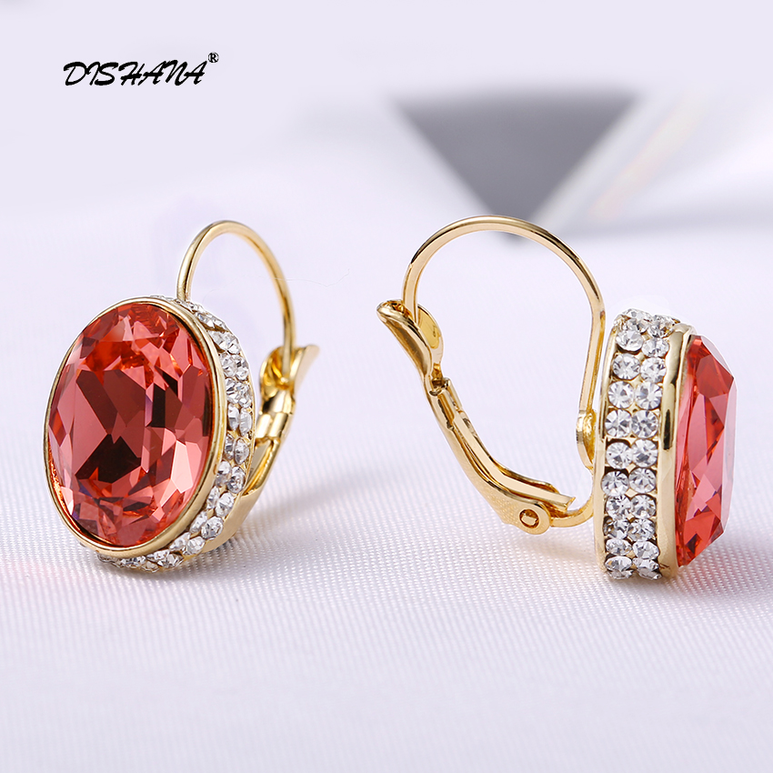 Kristal Drop Earrings untuk Wanita Pendientes Mujer Moda Emas-warna - Perhiasan fashion - Foto 3