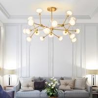 Projeto de LED Lustres Modernos para Sala de estar Quarto Iluminação Interior Luminária Design Criativo Pendurado Lâmpadas de Decoração Para Casa de Ferro