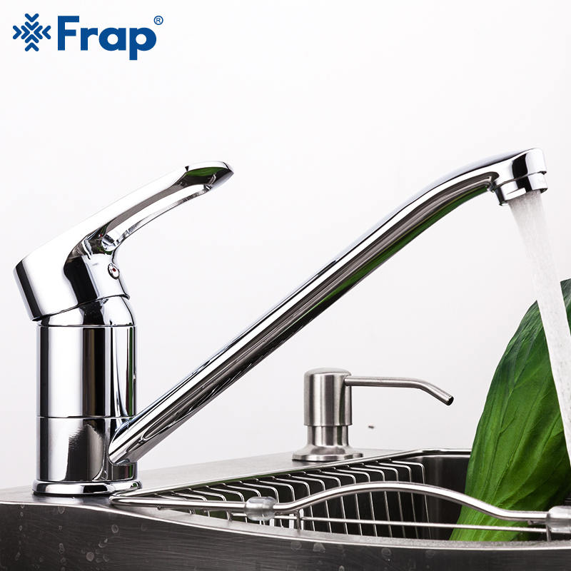 Frap Clearance Sale Kitchen Mixer Faucet Hot & Cold Water 360 Degree Rotatable Single Hole Single Handle Basin Tap for  Kitchen