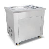 Envío urgente  máquina eléctrica de acero inoxidable para freír helados  máquina comercial para hacer helados de leche/sartén de hielo frito con 45cm