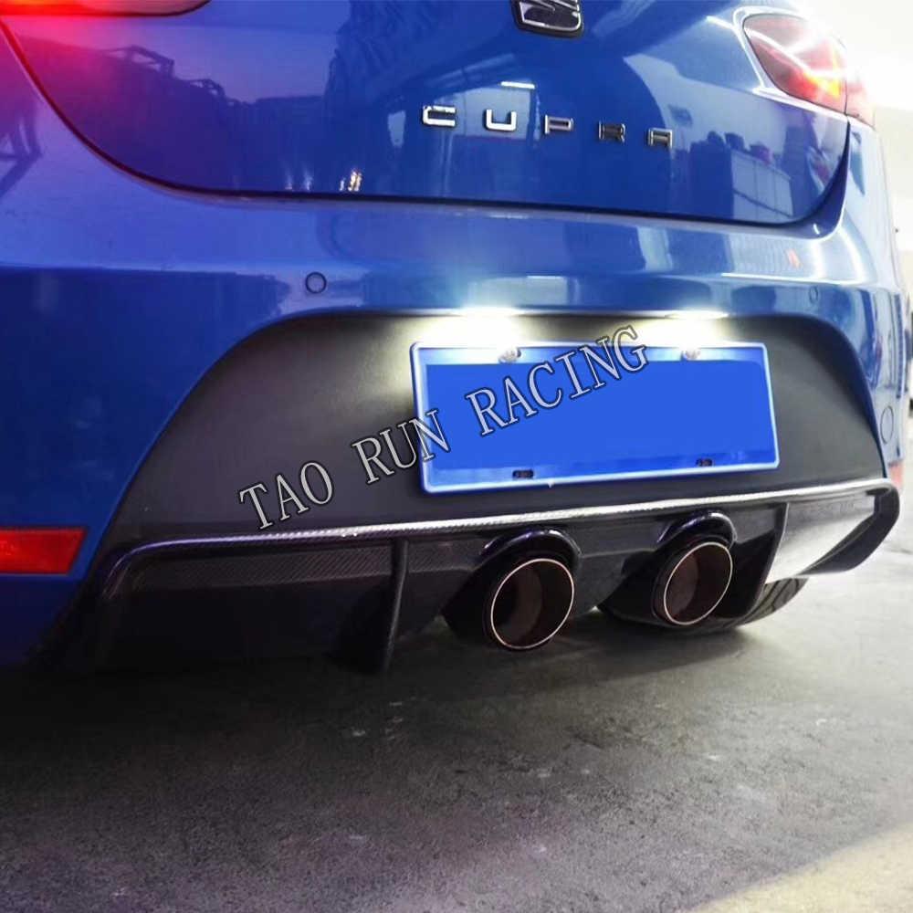 Carbon Fiber Rear Bumper Lip Diffuser Spoiler for Seat Leon Cupra 2012