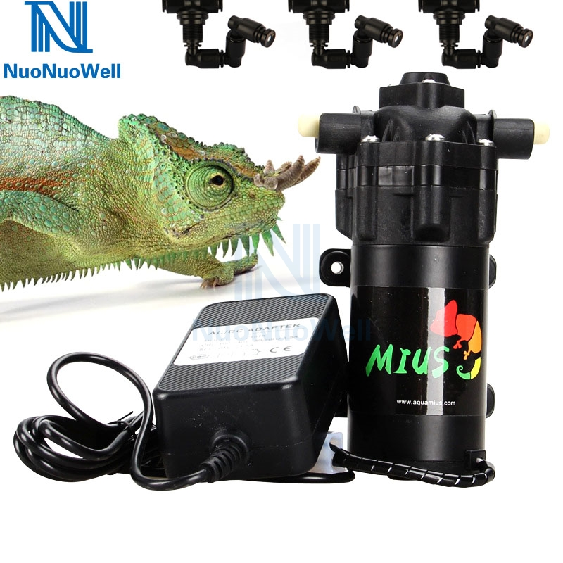NuoNuoWell 25W Reptile Rain Forest Aquarium Rainmaker Fogger Humidity Manual Mist System Mini Pump Kit