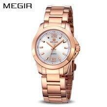 MEGIR נשים שעונים זוג יוקרה שמלת שעוני יד Relogio Feminino שעון לנשים Montre Femme קוורץ גבירותיי שעון לאוהבים
