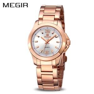 Image 1 - MEGIR Relojes Mujer Pareja de Lujo Vestido Reloj Relogio Feminino Montre Femme Reloj para Las Mujeres Señoras Reloj de Cuarzo para Los Amantes