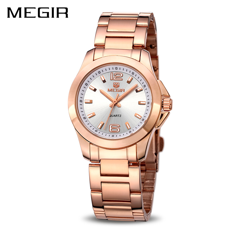 MEGIR Women Watches Luxury Couple Dress Wristwatch Relogio Feminino Clock for Women Montre Femme Quartz Ladies Watch for Lovers megir ladies watches rose gold luxury women bracelet watch for lovers fashion girl quartz wristwatch clock relogio feminino 1079