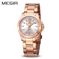 MEGIR Official 2017 Lovers Quartz Watch Watches Women Luxury Brand Couple Leather Strap Dress Wristwatch Couple