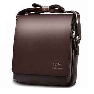 Image 4 - Maletín canguro de marca de diseñador para hombre, bolso de viaje de cuero suave, para negocios, oficina, ordenador, portátil, funda, bolsas de mensajero