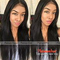 Hotsale Glueless synthetic lace front Wigs high temperature fiber black Natural Silky Straight Lace Front Wig For Black Women
