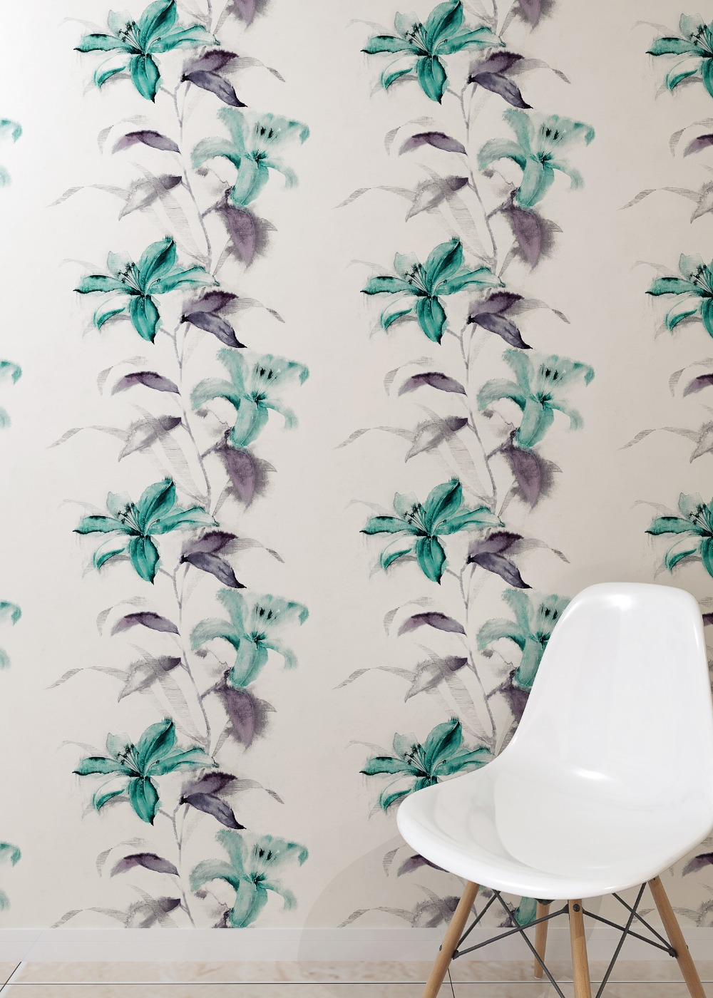 Lily Summer Florals Mural Wallpaper  Roll PVC Background 10m Decor миска lily flower g2286 h4266