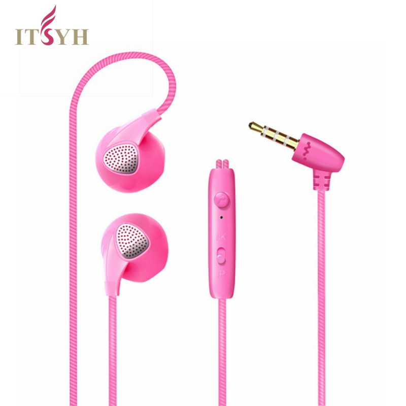 ITSYH In-Ear Earphone Headset With MIC In-line Control Jelly color 2017 popular Stereo  Earphones For cell phone MP3 MP4 TW-775 3 5mm in ear earphones with mic