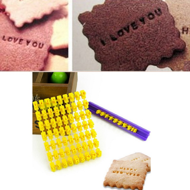 brixini.com - Alphabet Letter Cookie Stamp