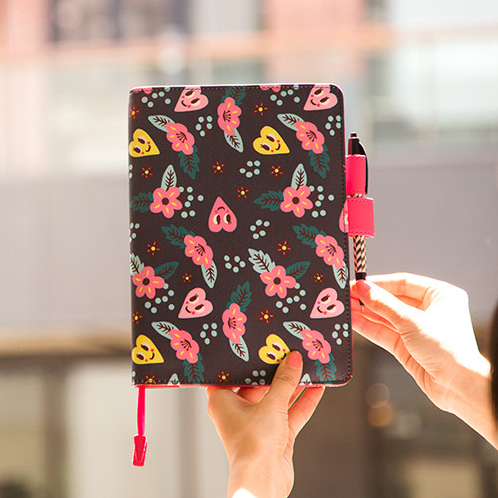 [KiMagic Flash Deal] PU Cover For Hobonichi Journal A5/A6 One Piece DIY Planner Diary Supplies Floral Stationery Gift[KiMagic Flash Deal] PU Cover For Hobonichi Journal A5/A6 One Piece DIY Planner Diary Supplies Floral Stationery Gift