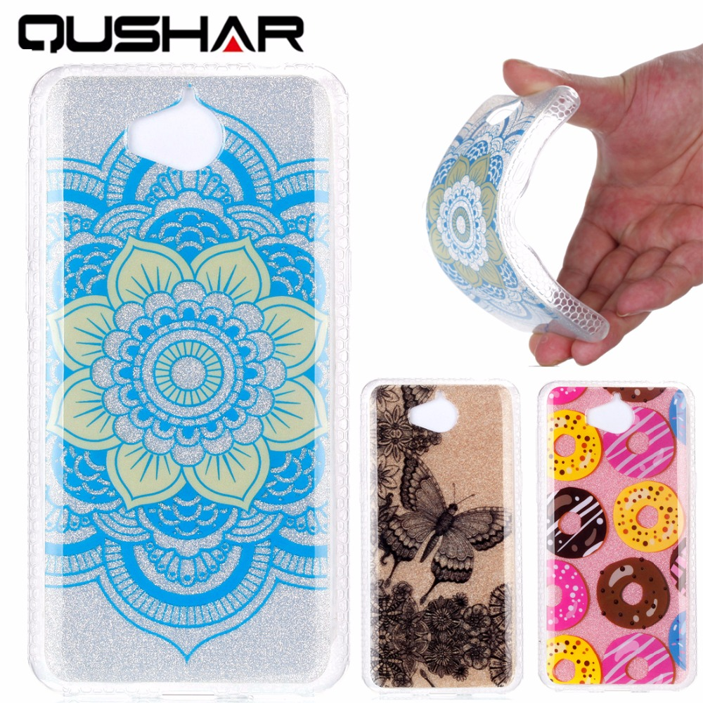 QuShar for Huawei Y5 2017 Phone Case for Huawei Y5 cover silicon soft tpu Fashion Cartoon case for Huawei Y5 2017 5 phone shell
