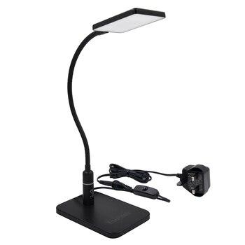 Сенсорная Светодиодная настольная лампа с регулируемой яркостью, черная Светодиодная настольная лампа, металлическая Светодиодная лампа ...