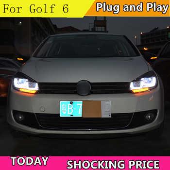 Car Styling for VW Golf 6 Headlights 2012 Volkswagen Golf LED Headlight DRL Bi Xenon Lens High Low Beam Parking Fog Lamp
