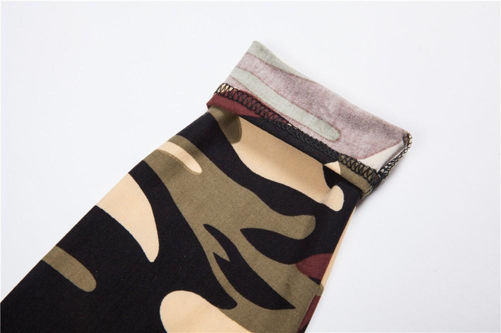 Fitness Camouflage Print Leggings