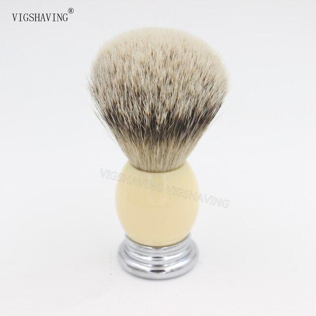 Metal Resin Handle Silvetip Badger Hair Shaving Brush
