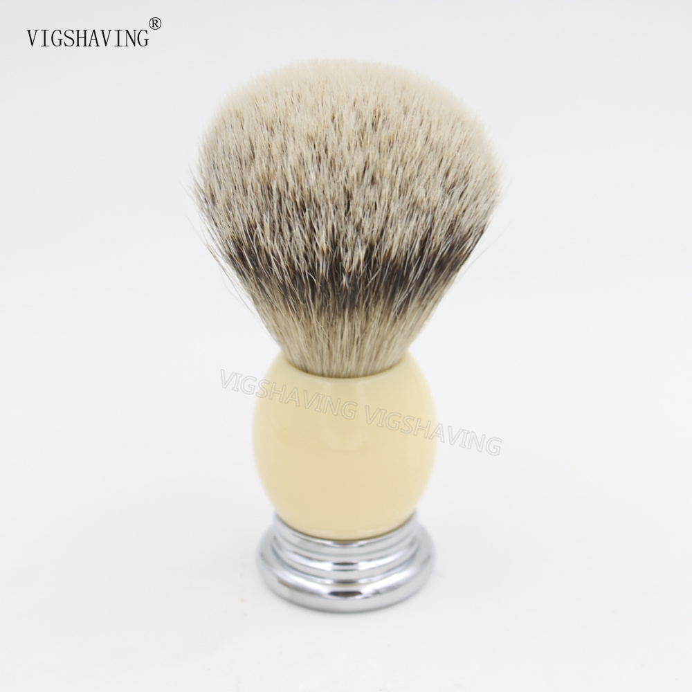 Metal Resin Handle Silvetip Badger Hair Shaving Brush