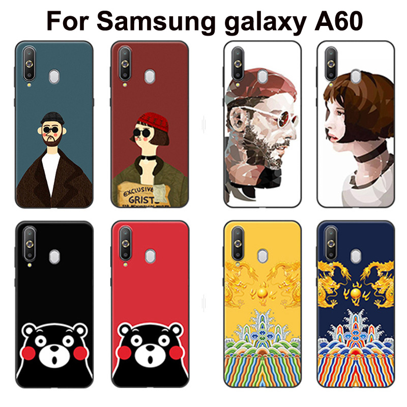 For <font><b>Samsung</b></font> <font><b>galaxy</b></font> <font><b>A60</b></font> Case <font><b>A6060</b></font> A606 Painted Leon killer cartoon soft Silicone phone case For <font><b>Samsung</b></font> <font><b>A60</b></font> <font><b>SM</b></font>-<font><b>A6060</b></font> back cases image