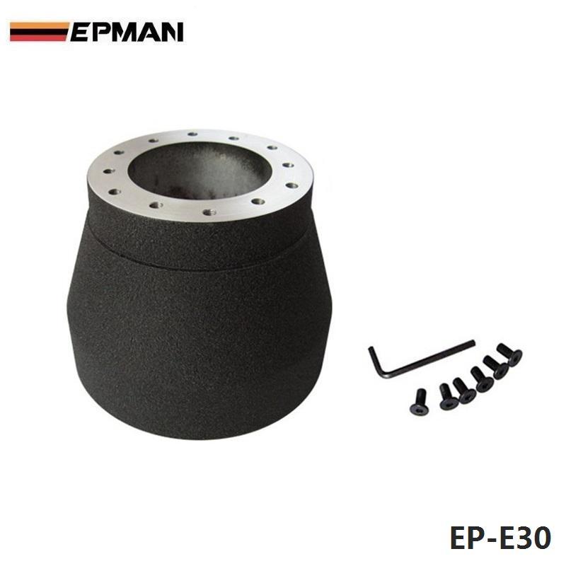 Prix pour EPMAN-Noir Volant de Course Hub Adapter Boss Pour BMW E30 EP-E30