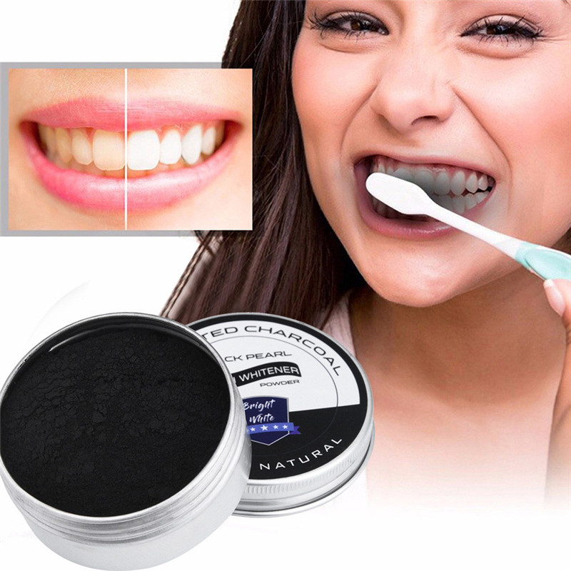 Teeth Whitening Powder Bamboo Activated Organic Charcoal Teethpaste blanqueador clareamento dental teeth whitening powder #52420(China)