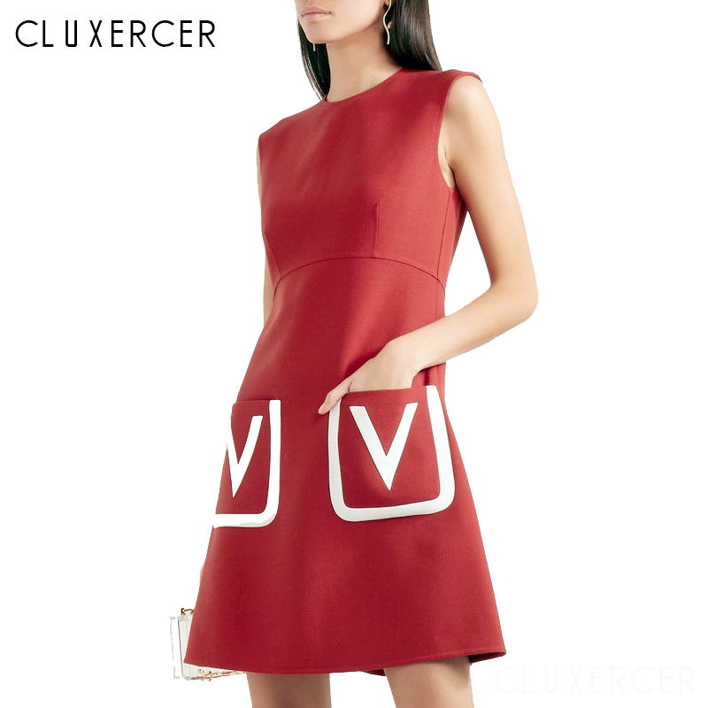 Office Women Vintage Summer Solid O neck Zipper Back Formal Stretch Pencil work Bodycon Pocket Dress
