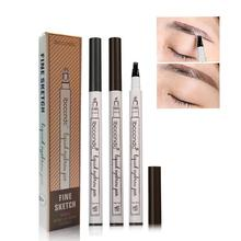 BellyLady Unique 3 Fork Tip Head Eyebrow Pencil Waterproof Natural Long-lasting Non Staining Brows Pen цена