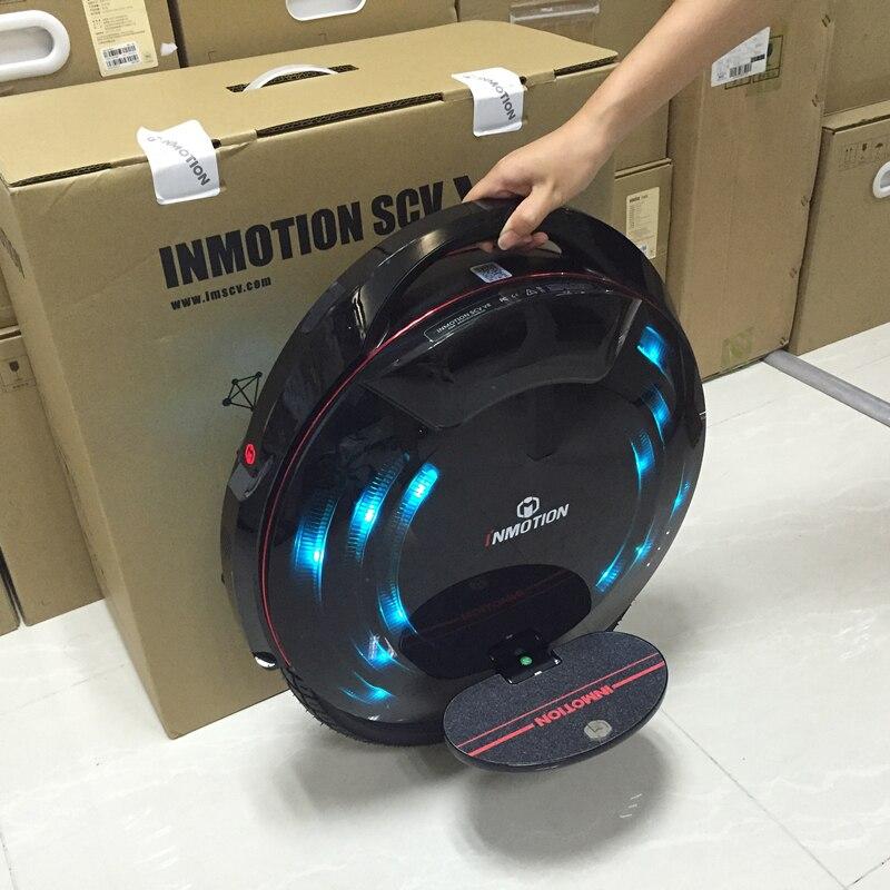 INMOTION SCV V8 Monowheel une roue électrique auto équilibrage Scooter EUC hors route APP avec lampes décoratives monocycle