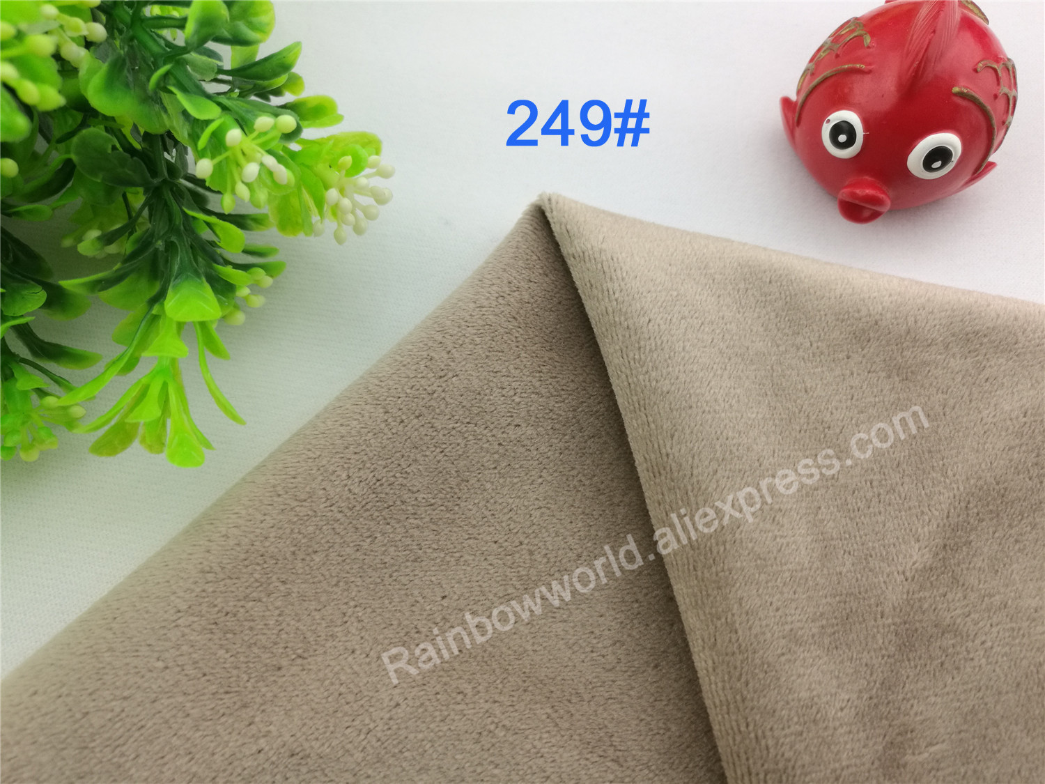 249# Light Brown Color Super Soft Short Hair 0.5-1.5mm Fleece Fabric Velvet Microfiber Velboa for DIY Patchwork Toy Sofa Pillow