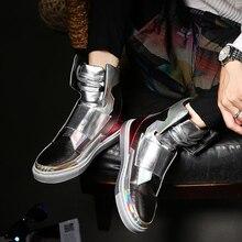 ZCHEKHEN Luxus marke Hip-Hop tanzen cool silber rot schwarz farbe Schuhe Mode Stiefel High Top Trainer persönlichkeit West Stiefel