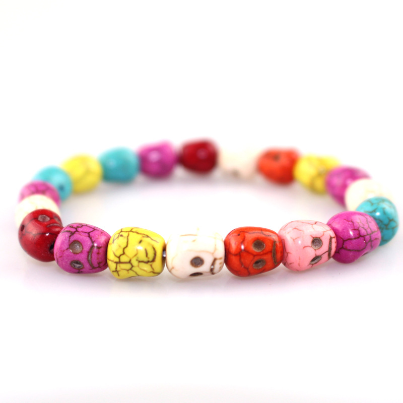 ★  Рождественский браслет из тыквы 10 мм красочные сосны браслет из тыквы женский браслет Йога браслет  ①