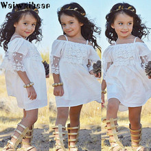 Waiwaibear Lace Girl Clothing Princess Dress Kid Baby Party Wedding Pageant Formal Cute Dresses Clothes Girls HA1