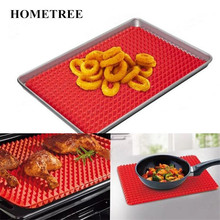 HONETREE Home Use Red Pyramid Bakeware Pan Nonstick Silicone Baking Mats Pad Moulds Mat Oven Tray Sheet Kitchen Tool H437