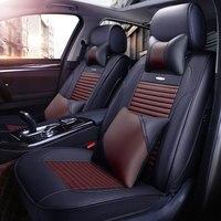 Кожаный чехол для автокресла chevrolet Equinox captiva cobalt cruze Caprice 2014 2013 2012 автомобильные чехлы на подушки аксессуары
