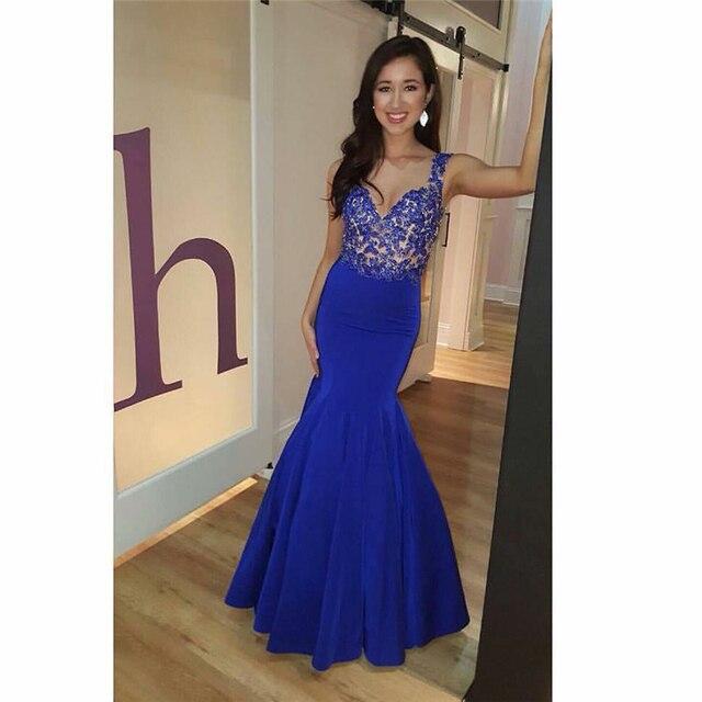 7a5629e3d 2017 vestido elegante vestido de festa azul turquesa Sale Sleeveless  Mermaid Open Back Nave Blue vestido festa formatura Limit