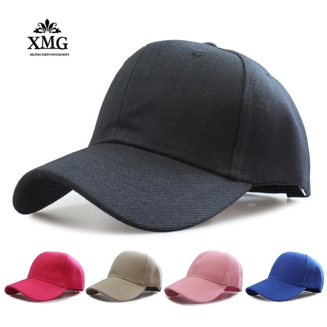 f566919b45c44 chic pure color dad hats baseball Cap Snapback Hats For Men Women good  stylish caps bone masculino for Sales promotion