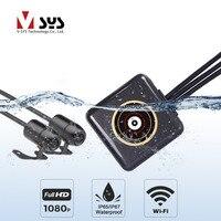 SYS полный средства ухода за кожей водостойкий мотоцикл драйвер регистраторы P6FL Wi Fi Двойной 1080P Full HD камеры dvr регистраторы