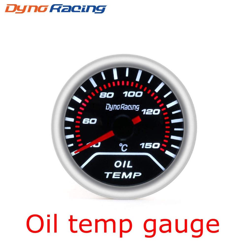 """Dynoracing """" 52 мм Автомобильный манометр бар psi температура выхлопных газов температура воды Температура масла пресс воздуха датчик топлива вольтметр Тахометр - Цвет: Oil Temp Gauge"""