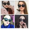 WISH CLUB Fashion Black Cat Eye Frame Sunglasses Women Luxury Brand Designer Ladies Ray Small Vintage Sexy Retro Cheap Whosale 5