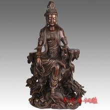 Seiko copper ornaments Avalokiteshvara light rare Zhai oversized dragon riding Avalokitesvara statue