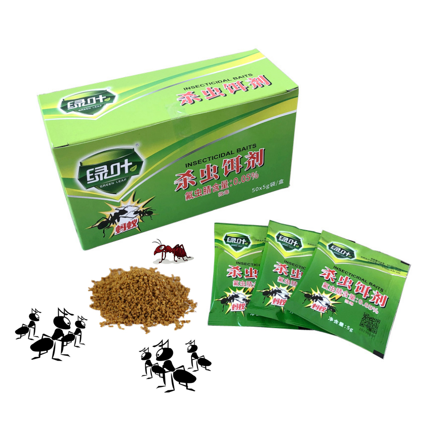 Hot Sale 20Packs Green Leaf Powder Ant Killing Bait Medicine Insecticide Powerful Killer Ant Special Effect Destroy Pest Control