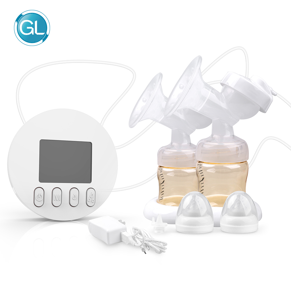 GL Comfortable FDA Approved Electric Double Breast Pump 9 level Automatically Breast Milk Suction Device Baby Breastmilk Feeding