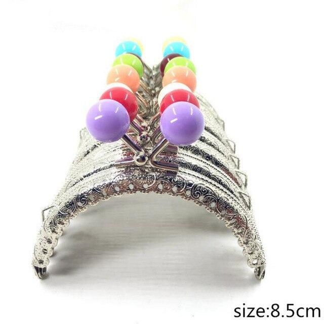 Sac à tête de bonbons, cadre de 30 pièces/20 pièces/10 pièces 8.5CM, fermoir à baiser argent demi cercle, sac à main, accessoires de couture, bricolage soi même