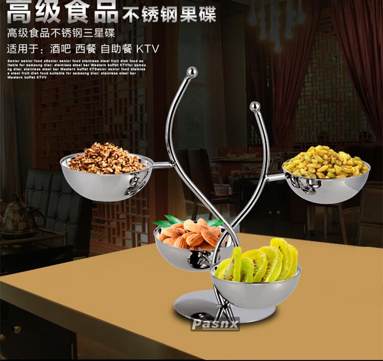 Four fruit dish snacks to offer them disc nut bar KTV snack frame mesa boutique compote