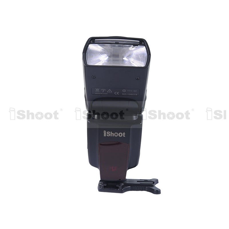 IShoot 43GN Flash Speedlite Flash pour Pentax K-7/K-5/KX/KR, K20D/K10D/K200D/K100D, Nikon D700/D300/D80/D70/D60/D50/D40