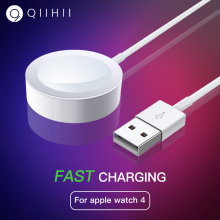 QIIHII Wireless Charger For Apple Watch Charger 4 3 2 1 Wireless Fast Charger For Watch Series 1m Cable Fast Chargeur Usb цена