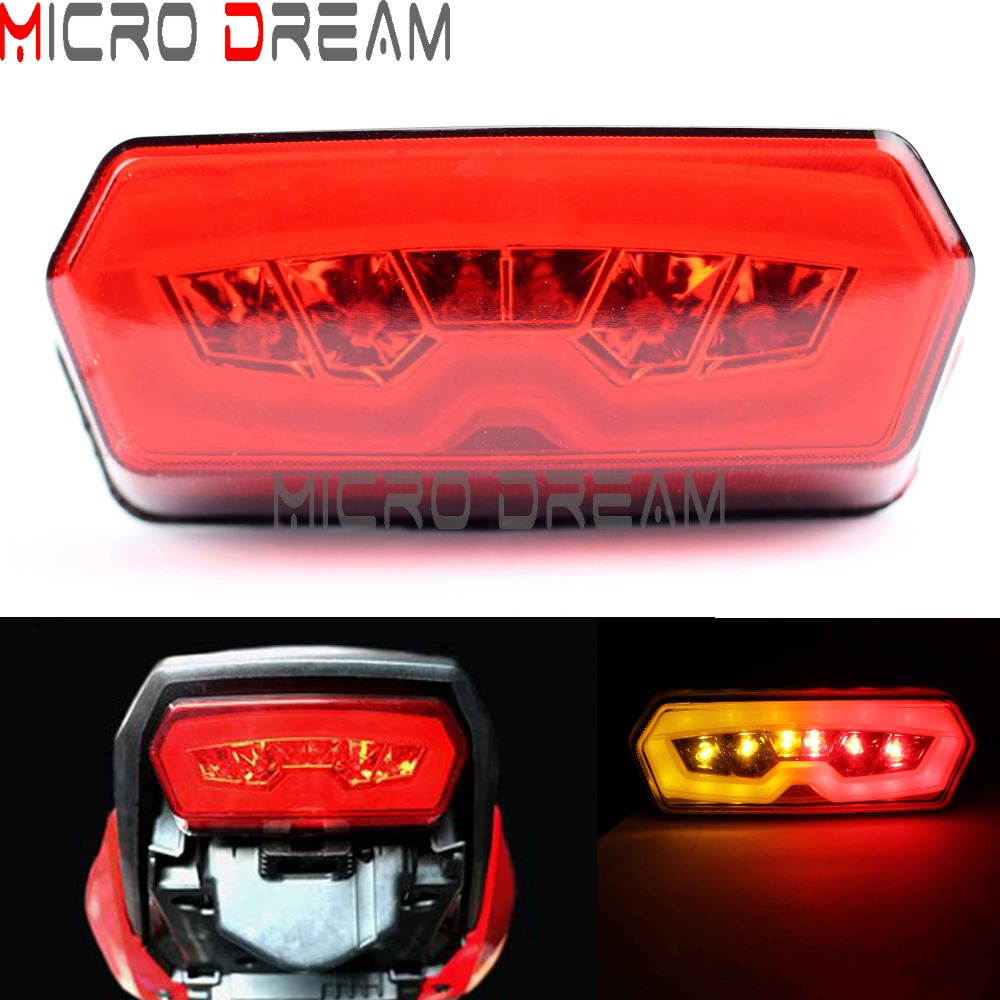 Red LED Taillights Motorcycle Amber Turn Sigmal Lamp Tali Light For 2013 2016 Honda MSX125 CB650F CBR650F CTX700N Grom125   - title=