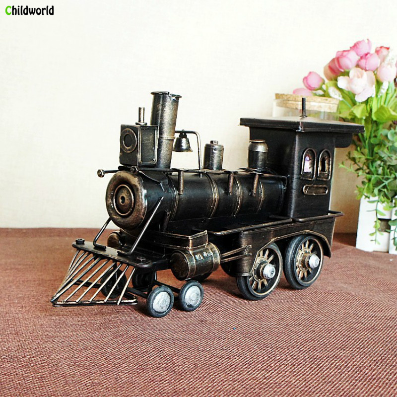 Retro Iron Black Locomotive Model Home Office Decoration and Decoration Gifts